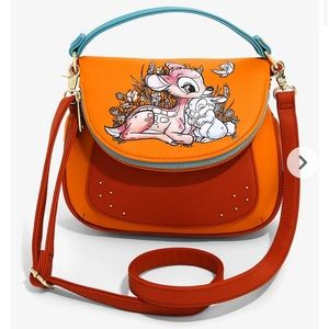 LOUNGEFLY DISNEY bambi floral forest crossbody!